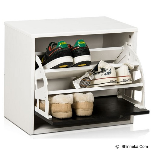 FUNIKA Shoe Cabinet With Door [11110 WH] - White - Rak Sepatu